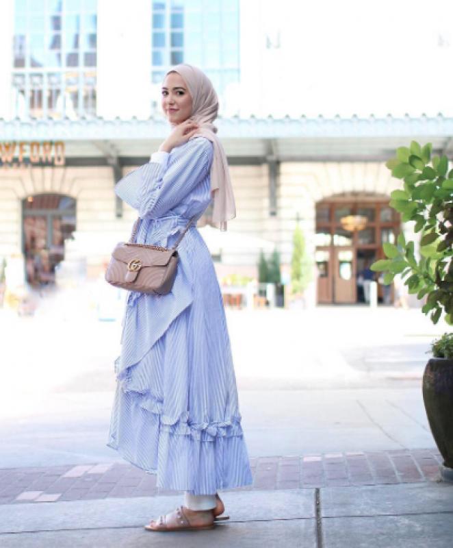 صورة موضة صيف 2019 للمحجبات , اشيك ستايل ملابس نسائي للمحجبات 3257 2