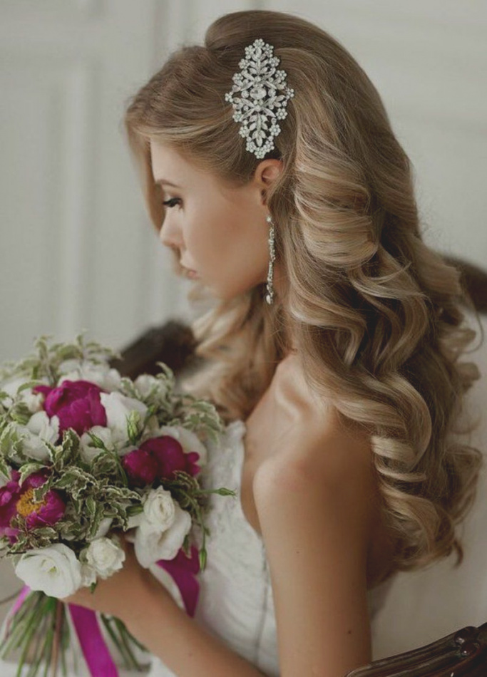 صورة تسريحات عرايس , اجمل موديلات لتصفيف شعر العروس
