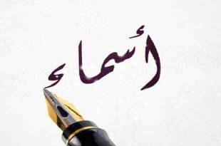 صورة ما معنى اسم اسماء , صفات حاملة اسم اسماء