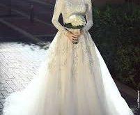صورة فساتين اعراس للمحجبات , تصاميم فساتين حديثه