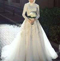 صور فساتين اعراس للمحجبات , تصاميم فساتين حديثه