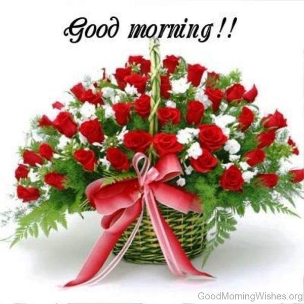 صور ورد صباح الخير , صور زهور صباحية مع عبارة صباح الخير