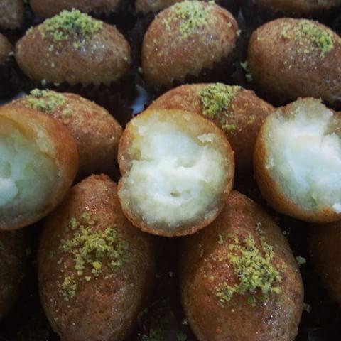 صورة حلويات شامية , طريقة تحضير الكبة بالقشطة والفستق