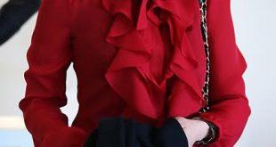 صورة موديلات بلوزات شيفون , اجمل ازياء بلوزة شيفون للمحجبات