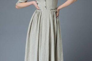صورة قنادر كتان , اجمل ملابس من كتان للصيف
