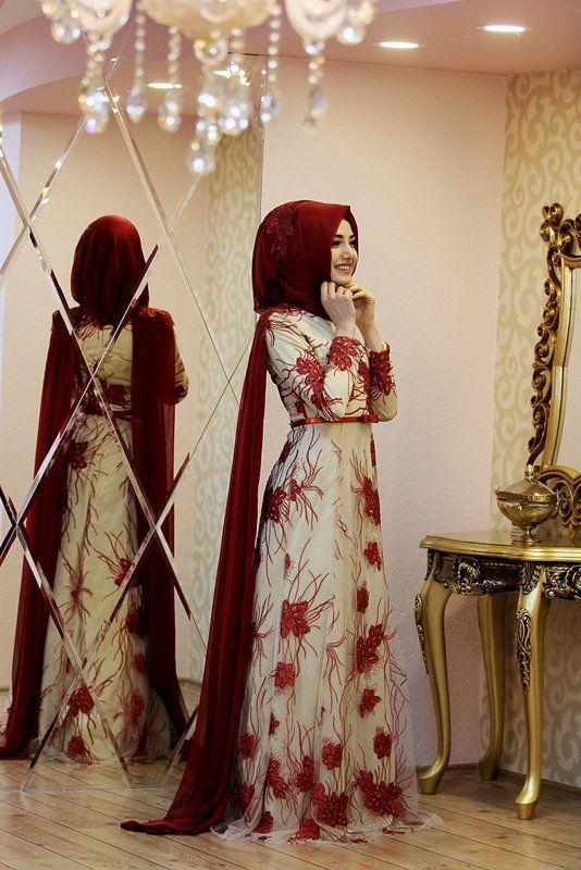صورة فساتين سواريه بسيطه وشيك للمحجبات , احلى ازياء فستان محجبة للحفلات