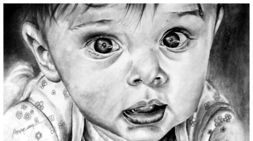 رسم وجه اطفال بالرصاص لم يسبق له مثيل الصور Tier3 Xyz