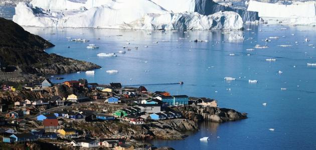صورة اكبر جزيرة في العالم قبل اكتشاف استراليا , جزيرة جرين لاند اكبر جزر العالم