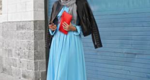 صورة فساتين طويلة للمحجبات , فستان طويل للمحجبة