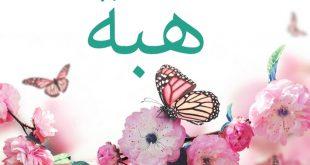 صور معنى اسم هبة , هبة الاسم الاكثر تسمية