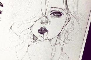صورة رسومات جميلة , اجمل صور بنات مرسومة بالقلم الرصاص