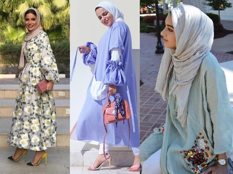صورة ملابس موضه , ازياء بنات محجبات الصيف عام 2019