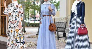 ملابس موضه , ازياء بنات محجبات الصيف عام 2019