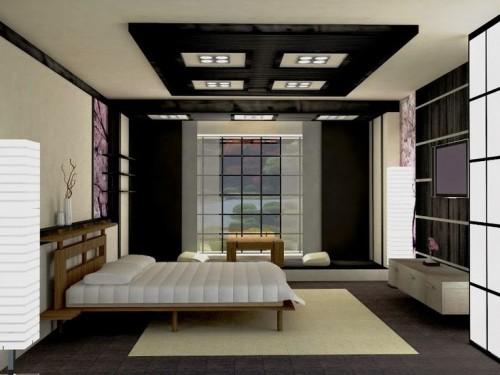 صورة ديكورات حوائط , صور ديكورات غرف نوم من الجبس