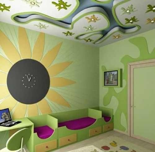 صور ديكورات جبس غرف نوم اطفال , اشكال رائعه من ديكور جبس اسقف حجرة اطفال