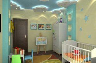 صورة ديكورات جبس غرف نوم اطفال , اشكال رائعه من ديكور جبس اسقف حجرة اطفال