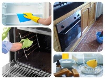 صورة تنظيف المطبخ , اريد طريقه سهله لازاله الدهون من ارضيه مطبخى