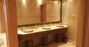 صورة ديكورات مغاسل يدين , تصميم مغسلة لمنزل انيق وجميل