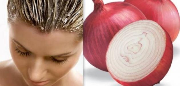 صور مغلي البصل للشعر , فوائد البصل للشعر
