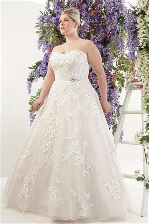 صورة فساتين زفاف 2019 , كيفيه اختيار فساتين زفاف تناسب العروس السمينه