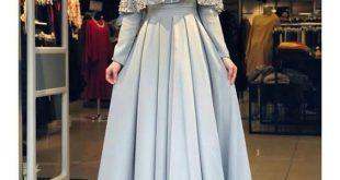 صورة فساتين سهرة محجبات , اووووعا وشك الفساتين الجامدة 👇