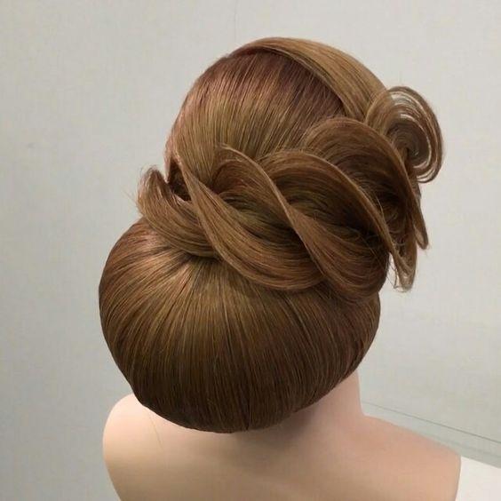 صورة تسريحات شعر مرفوع , تسريحات شعر سهلة وبسيطة جدا 👇 420 13