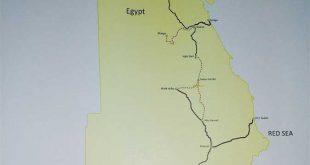 صورة خريطة سكك حديد مصر ,احدى وسائل المواصلات الامنه