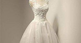 صورة فساتين قصيرة للزفاف , فساتين زفاف قصيرة في غاية الروعة 👇