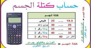 صورة حساب كتلة الجسم والوزن المثالي,تعرفي على حساب وزن الجسم المثالي