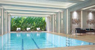 صورة تصميم مسبح منزلي , حمام سباحة بشكل مختلف