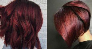 صورة لون اكثر اثارة لشعرك , صبغ شعر احمر رماني