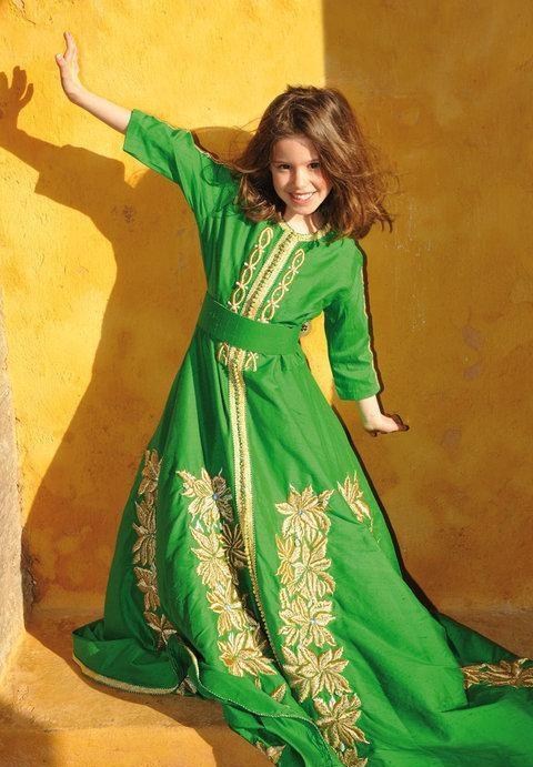 لباس مغربي للا طفال 7468-7